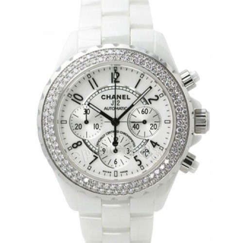 Chanel J12 White Strass Chrono