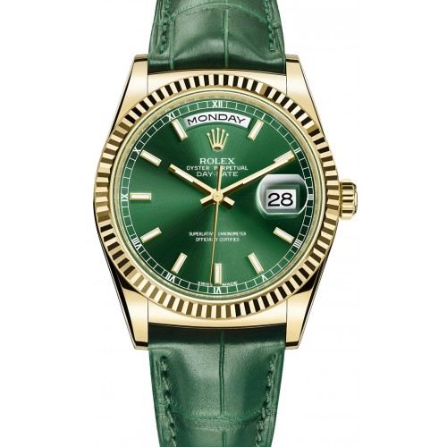Rolex Day Date Gold Green Edition