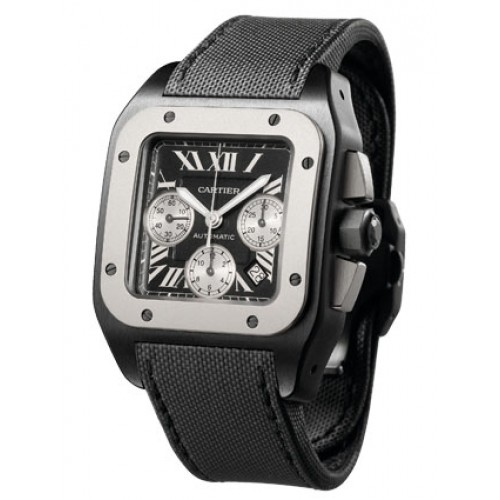 Cartier Santos 100 Black Steel