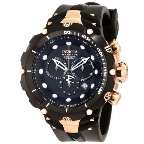 Invicta Reverse Gold Black