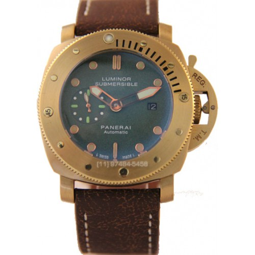 Panerai Submersible Ceramica Gold Green