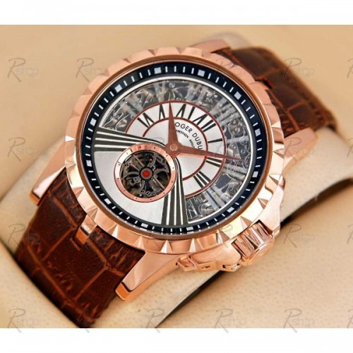 Roger Dubuis Excalibur Minute Gold White